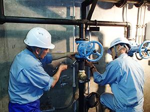 排水ポンプの配管補修
