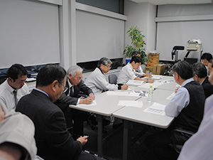 茨城県企業局の対策会議への参加